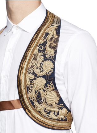 Detail View - Click To Enlarge - Dries Van Noten - Embroidered cotton harness