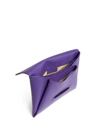 Detail View - Click To Enlarge - GIVENCHY - 'Antigona' leather envelope clutch