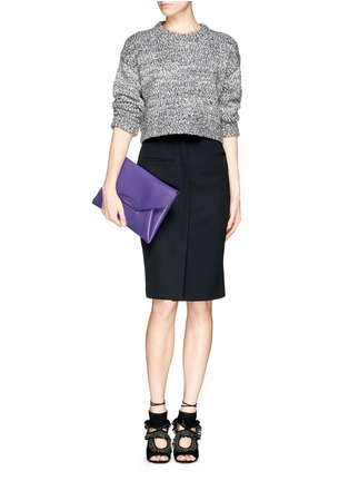 Figure View - Click To Enlarge - GIVENCHY - 'Antigona' leather envelope clutch