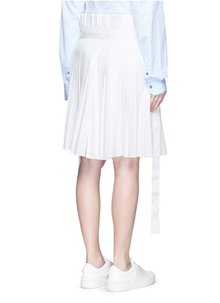 Back View - Click To Enlarge - Sacai - Paperbag waist pleat poplin long shorts