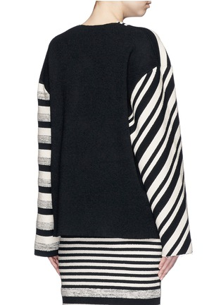 Back View - Click To Enlarge - Ports 1961 - Variegated stripe silk blend knit sash tie jacket