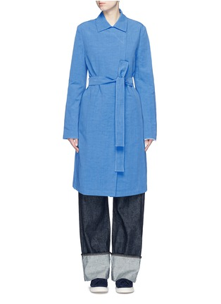 Main View - Click To Enlarge - Ports 1961 - Cotton-linen-cupro sash coat