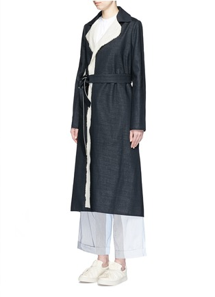 Front View - Click To Enlarge - Ports 1961 - Wool-linen sash coat