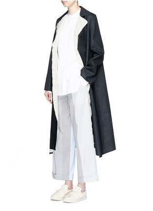 Figure View - Click To Enlarge - Ports 1961 - Wool-linen sash coat
