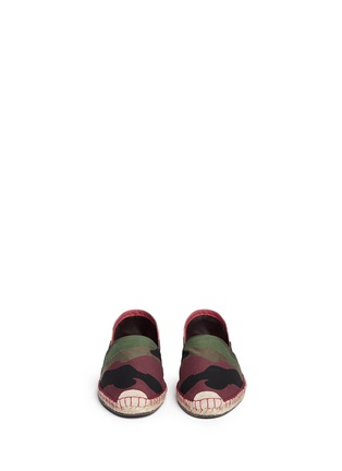 Figure View - Click To Enlarge - Valentino - Camouflage print patchwork espadrilles