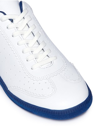 Detail View - Click To Enlarge - Isabel Marant Étoile - 'Bryce' brogue trim leather sneakers