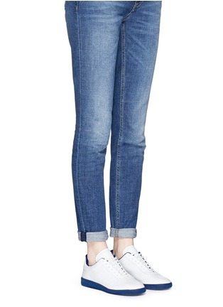 Figure View - Click To Enlarge - Isabel Marant Étoile - 'Bryce' brogue trim leather sneakers
