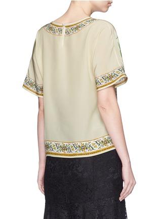 Back View - Click To Enlarge - Dolce & Gabbana - 'Granita al Limones' print silk T-shirt