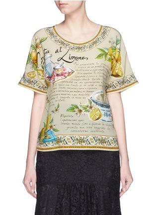 Main View - Click To Enlarge - Dolce & Gabbana - 'Granita al Limones' print silk T-shirt