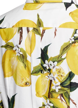 Detail View - Click To Enlarge - Dolce & Gabbana - Lemon print cotton poplin shirt