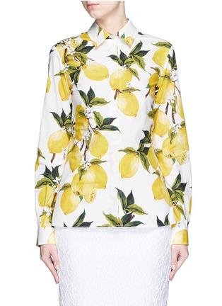 Main View - Click To Enlarge - Dolce & Gabbana - Lemon print cotton poplin shirt