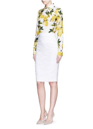 Figure View - Click To Enlarge - Dolce & Gabbana - Lemon print cotton poplin shirt