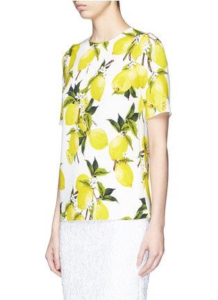 Front View - Click To Enlarge - Dolce & Gabbana - Lemon print cady top