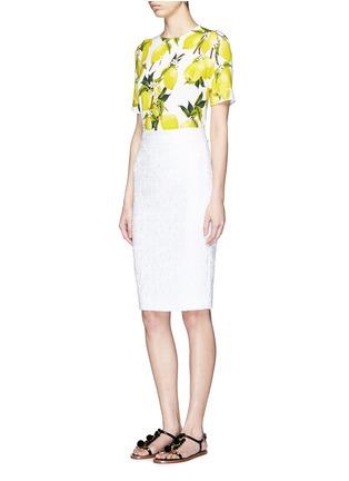 Figure View - Click To Enlarge - Dolce & Gabbana - Lemon print cady top