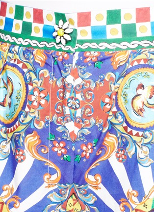 Detail View - Click To Enlarge - Dolce & Gabbana - Carretto print poplin shorts
