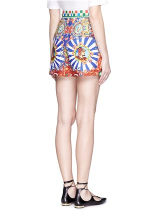 Back View - Click To Enlarge - Dolce & Gabbana - Carretto print poplin shorts