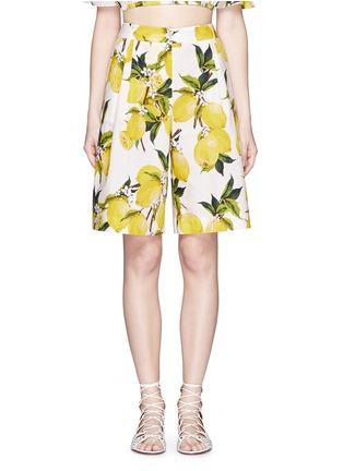 Main View - Click To Enlarge - Dolce & Gabbana - Lemon print poplin shorts