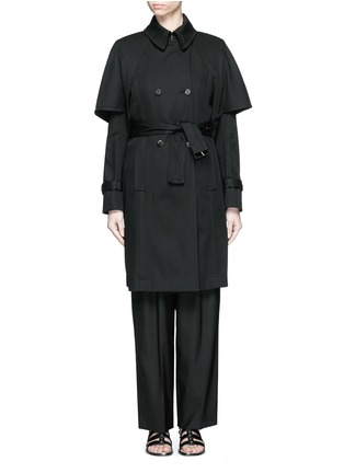 Main View - Click To Enlarge - Balenciaga - Cape back cotton twill trench coat