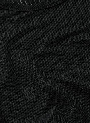 Detail View - Click To Enlarge - Balenciaga - Ajoure logo mesh T-shirt