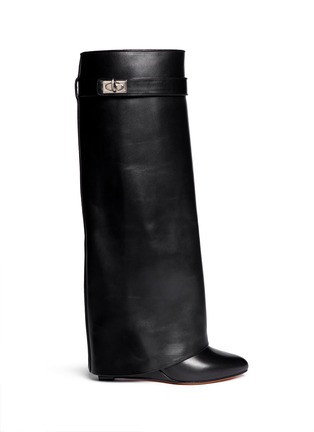 Main View - Click To Enlarge - Givenchy - Shark tooth lock wedge boots