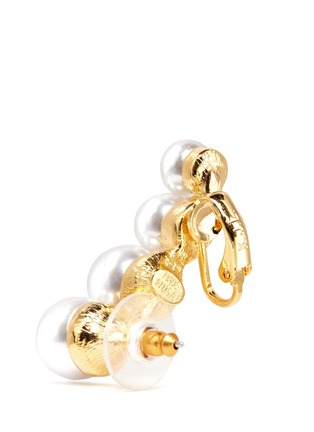 Detail View - Click To Enlarge - KENNETH JAY LANE - Glass pearl climber earrings
