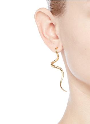 Figure View - Click To Enlarge - KENNETH JAY LANE - Swirl drop earrings
