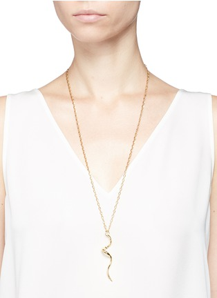 Figure View - Click To Enlarge - Kenneth Jay Lane - Swirl pendant necklace