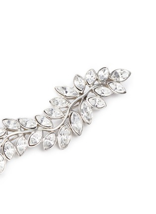 Detail View - Click To Enlarge - Kenneth Jay Lane - Glass crystal leaf brooch