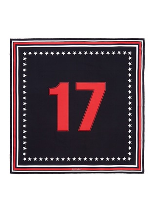 Main View - Click To Enlarge - Givenchy - '17' silk twill scarf
