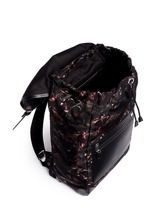 Detail View - Click To Enlarge - Givenchy - 'Rider' monkey brothers print nylon backpack