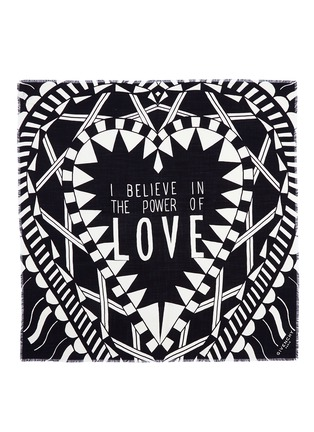 Main View - Click To Enlarge - GIVENCHY - 'Power of Love' virgin wool-silk scarf