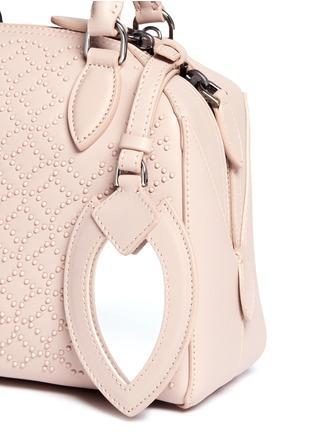 Detail View - Click To Enlarge - Alaïa - 'Arabesque' mini stud leather bag