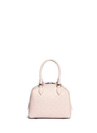 Back View - Click To Enlarge - Alaïa - 'Arabesque' mini stud leather bag