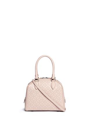 Main View - Click To Enlarge - Alaïa - 'Arabesque' mini stud leather bag