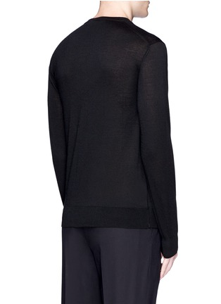 Back View - Click To Enlarge - Dolce & Gabbana - Crystal bee embroidery cashmere sweater