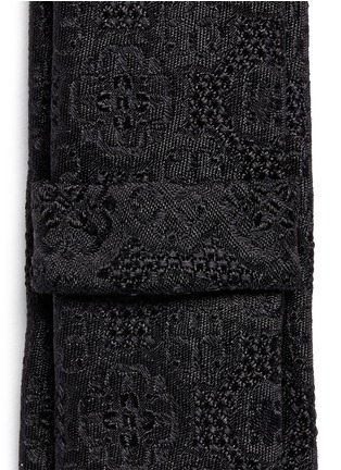 Detail View - Click To Enlarge - Dolce & Gabbana - Clover jacquard silk tie