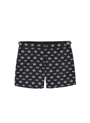 Main View - Click To Enlarge - Dolce & Gabbana - Crown print swim shorts
