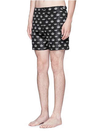 Figure View - Click To Enlarge - Dolce & Gabbana - Crown print swim shorts