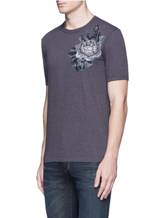 Front View - Click To Enlarge - - - Digital rose patch T-shirt