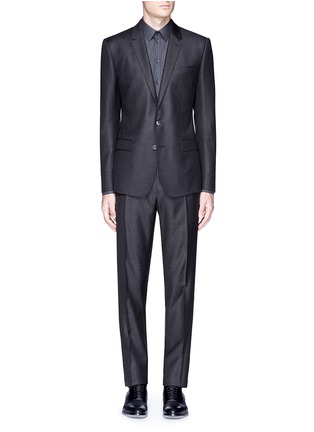 Main View - Click To Enlarge - Dolce & Gabbana - 'Martini' slim fit notch lapel wool-silk suit