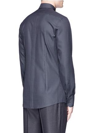 Back View - Click To Enlarge - Dolce & Gabbana - 'Gold' slim fit diamond jacquard cotton shirt