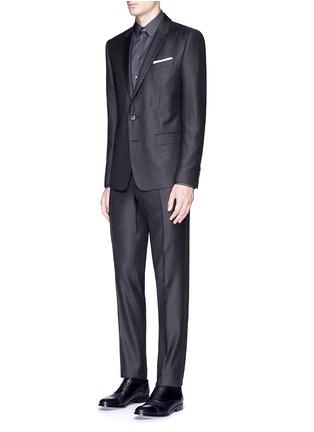 Figure View - Click To Enlarge - Dolce & Gabbana - 'Gold' slim fit diamond jacquard cotton shirt