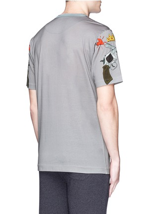 Back View - Click To Enlarge - - - GUN CARTOON PRINT COTTON T-SHIRT
