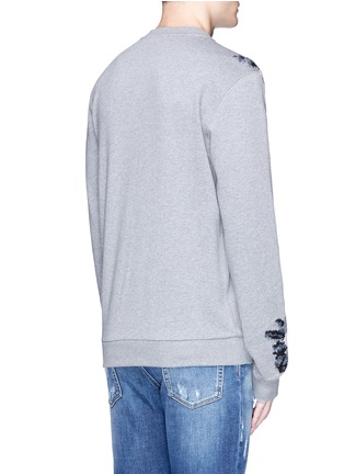 Back View - Click To Enlarge - - - Floral embroidery cotton sweatshirt