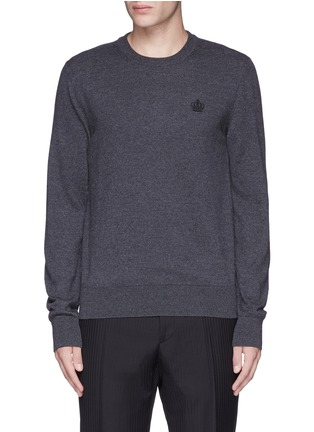 Main View - Click To Enlarge - Dolce & Gabbana - Crown embroidery wool sweater