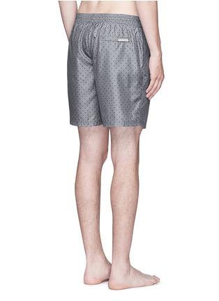 Back View - Click To Enlarge - Dolce & Gabbana - Polka dot print swim shorts