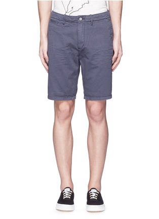 Main View - Click To Enlarge - Scotch & Soda - Garment dyed cotton shorts