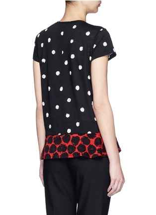 Back View - Click To Enlarge - Proenza Schouler - Dot print tissue jersey T-shirt
