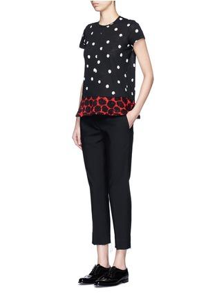 Figure View - Click To Enlarge - Proenza Schouler - Dot print tissue jersey T-shirt
