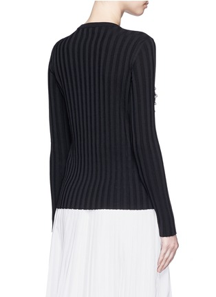 Back View - Click To Enlarge - Emilio Pucci - Pearl embellished sweater